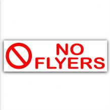 1 x No Flyers-Letterbox Warning House Sticker-Door Notice Sign-Booklet,Flyers,Junk,Trash-Self Adhesive Vinyl